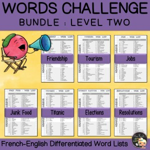 Vocabulary Word Lists Bundle Level 2