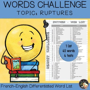 Vocabulary Word List Ruptures