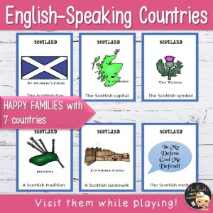 English-speaking countries Happy Families Game