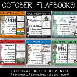 October Events Flapbook Bundle