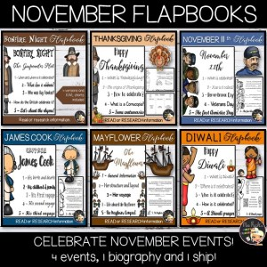 November Events Flapbook Bundle