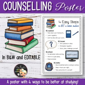 Editable Counselling Posters