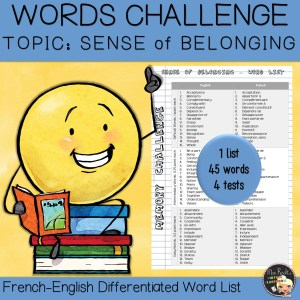 Vocabulary Word List Belonging