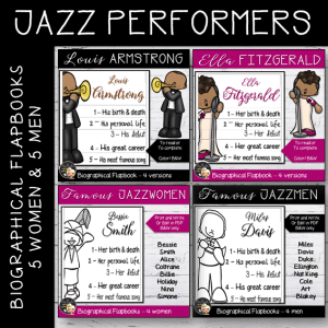 Jazzmen and women Flapbooks Bundle