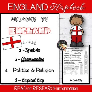England Flapbook and Map