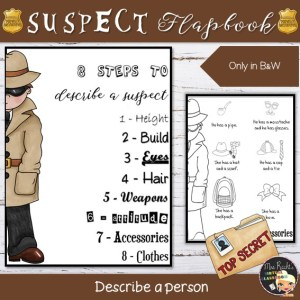 Suspect Description Flapbook