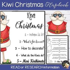 Christmas in New Zealand Flapbook