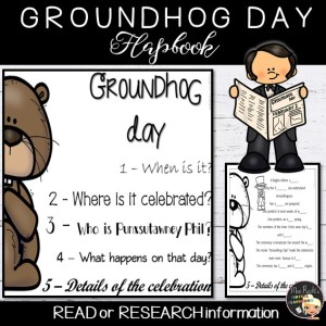 Groundhog Day Flapbook