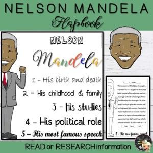 Nelson Mandela Flapbook
