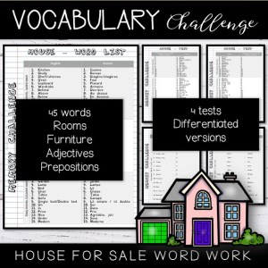 Vocabulary Word List House