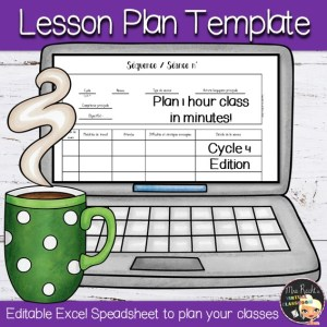 Lesson Plans Editable Templates Cycle 4 Séances