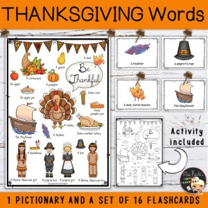 Flashcards Thanksgiving + pictionary