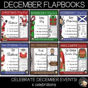 December Events Flapbook Bundle