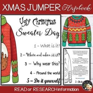 Ugly Christmas Sweater Flapbook