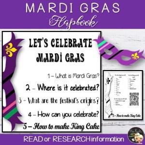 Mardi Gras Flapbook