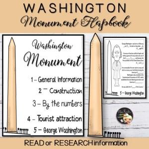Washington Monument Flapbook