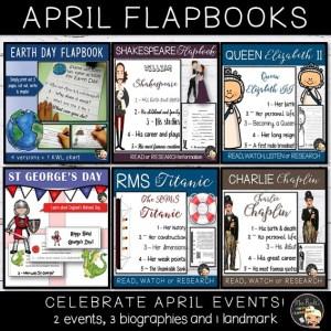April Events Flapbook Bundle