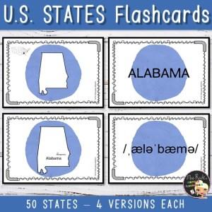 Flashcards Etats Américains