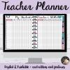 Teacher Planner du prof d'anglais