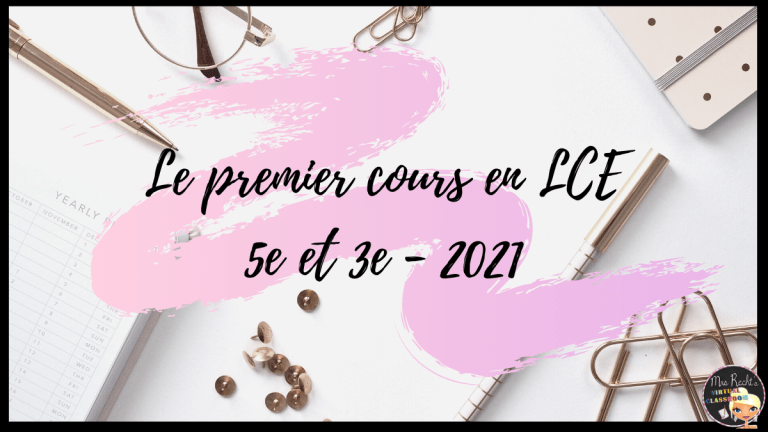 Premier cours LCE 2021