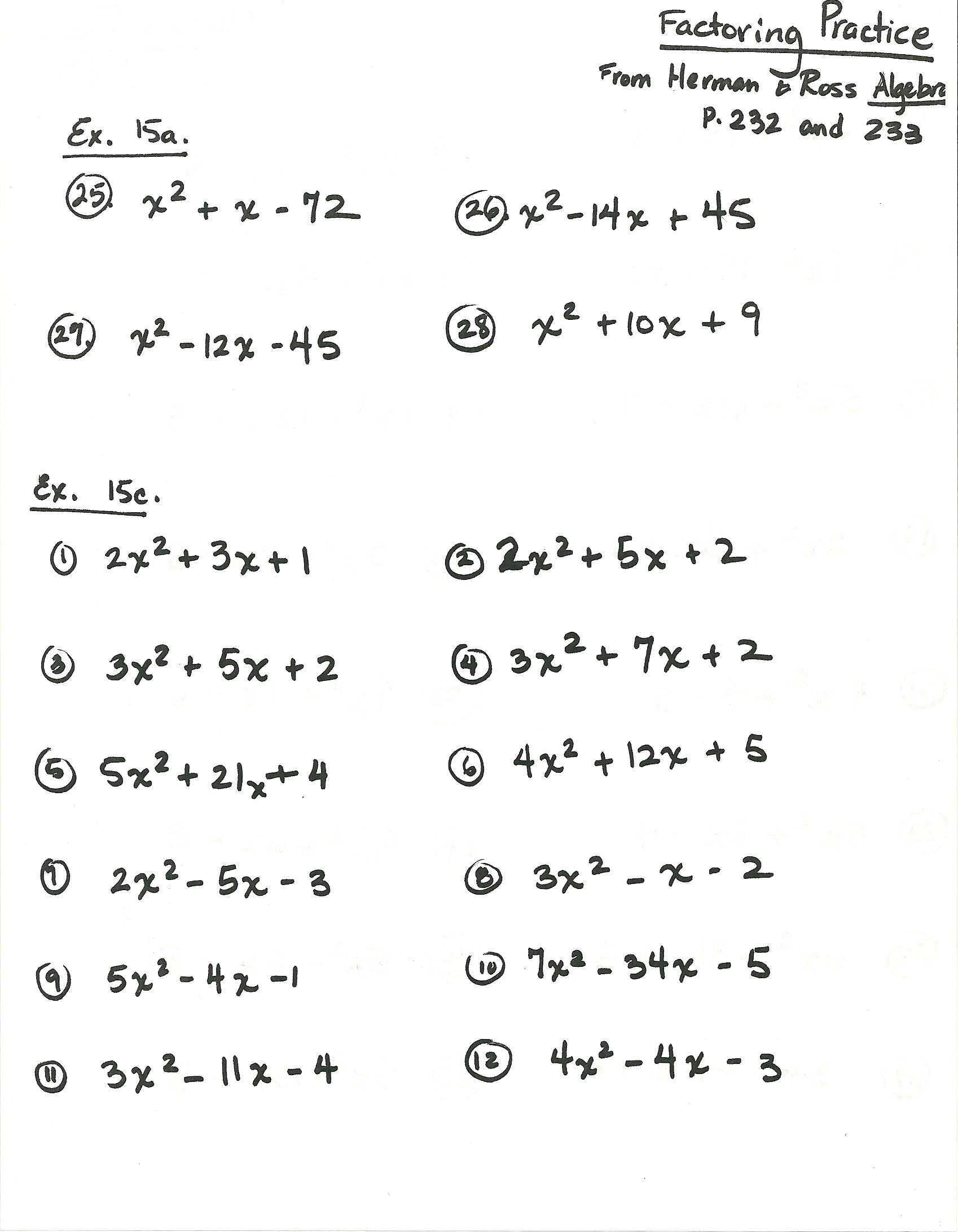 9th Grade Algebra Worksheets Free Worksheets Library