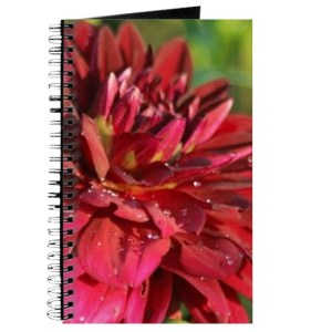 Arabian Night Dahlia Flower Bloom 061 Journal