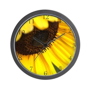 Colorful And Flashy Sunflower Wall Clock