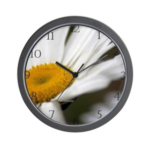 Shasta Daisy Flower Wall Clock