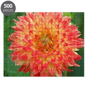 Procyon Dahlia Flower Bloom 087 Large Puzzle