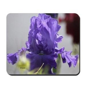Blue Bearded Iris Flower Mousepad