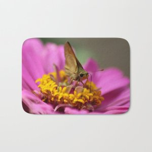 Colorful Skipper Butterfly Bath Mat