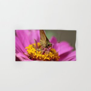 Colorful Skipper Butterfly Hand & Bath Towel