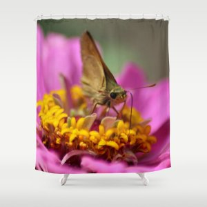 Colorful Skipper Butterfly Shower Curtain