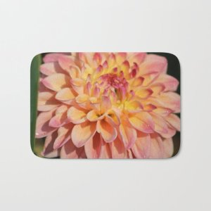 Colors Of The Dahlia Flower Bath Mat