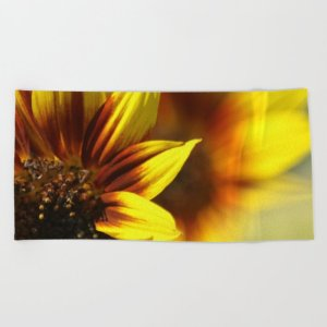 Colors of the Sunflowers Beach Towel