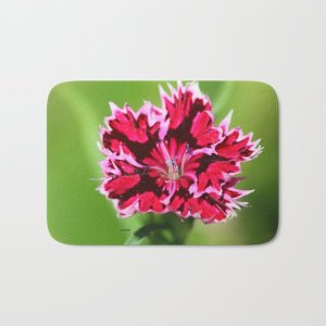 Flashy Dianthus Flower Bath Mat