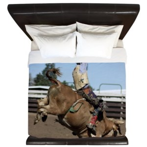 Rodeo Bull Riding King Duvet Cover
