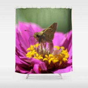 Skipper Butterfly In The Garden Shower Curtain