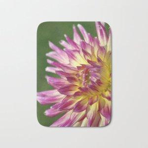 flashy dahlia flower Bath Mat
