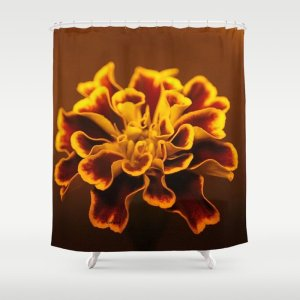 marigold flower Shower Curtain