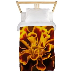 marigold flower Twin Duvet Cover