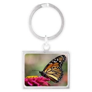 Monarch Butterfly Landscape Keychain