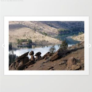 Rocks at Lake Billy Chinook Art Print