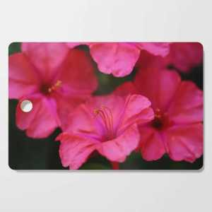 Four Oclock Flower In Red Cutting Board