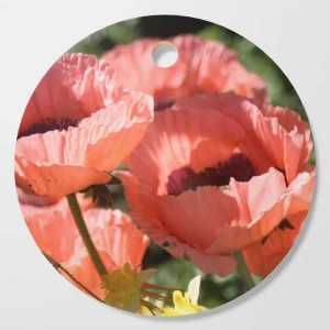 Poppy Flower Color Cutting Board