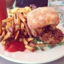 Fried chicken sandwich at Skillet in Ballard