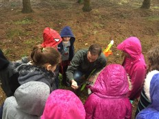 Learning how to collect a soil sample!