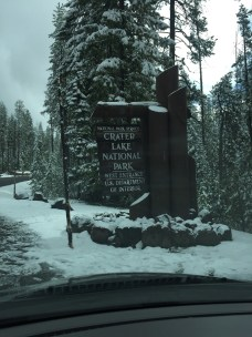 Crater Lake, Oregon. The snow was a surprise!