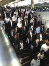 Tokyo Station at rush hour.