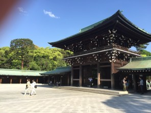 Meiji-jingu. This shrine is nestled in acres of cypress trees. It smelled incredible.